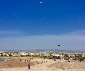 Kite flying at Lighthouse Beach