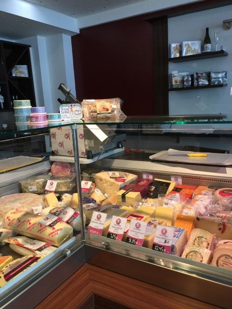 Cheeses and cooked meat