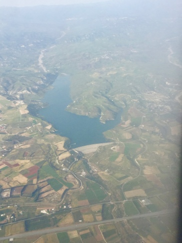 Asprokremmos Reservoir from the air